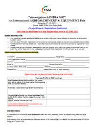 International Buyer Registration Form